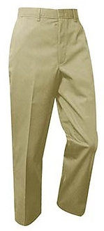 Plain Front Twill Pants (Traditional Fit)