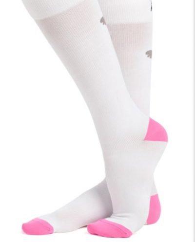 Compression Socks - Koi Heart White
