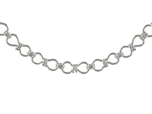 Circle handmade silver bracelet