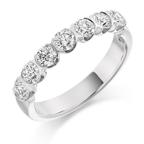 Bar set Diamond 1ct half Eternity ring