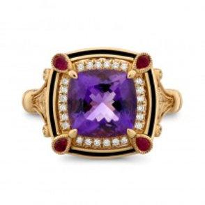 Amethyst Art Deco ring