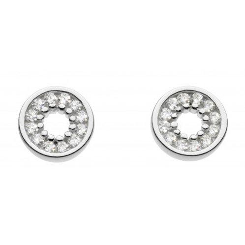 Open Circle CZ stud earrings