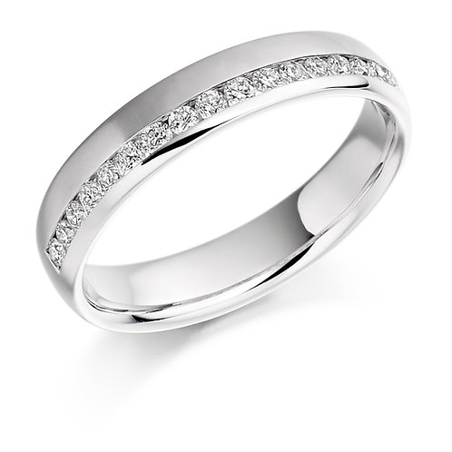 Offset Diamond 0.26ct half Eternity ring