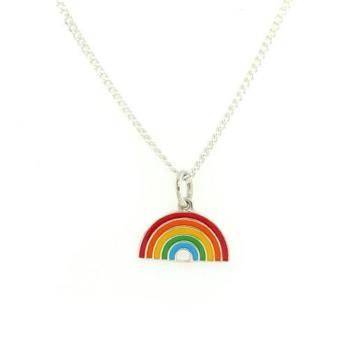 Rainbow Silver pendant