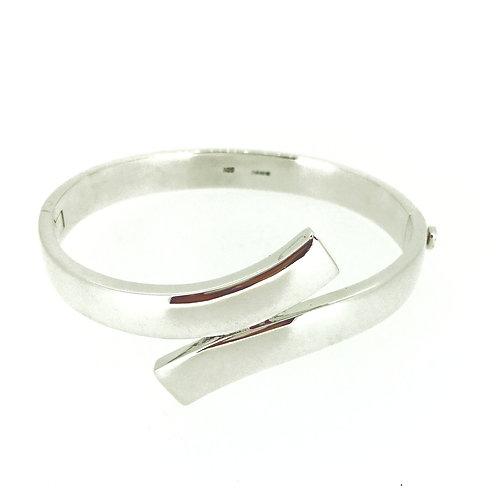 Silver Hinged Passing bangle