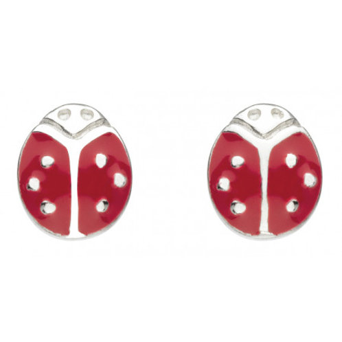 Ladybird Enamel stud earrings