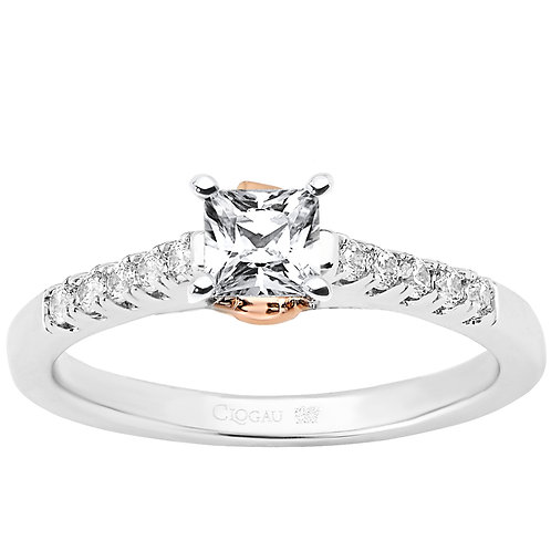 Timeless Love Clogau ring 30 point Princess Diamond
