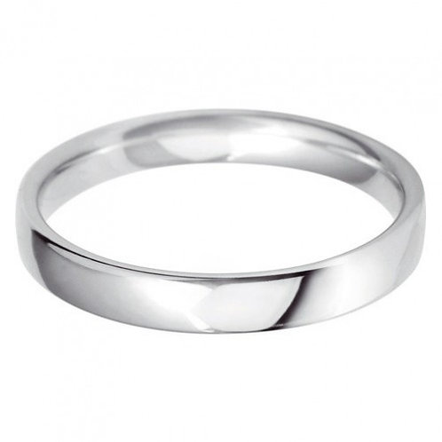 Classic 3mm court wedding band