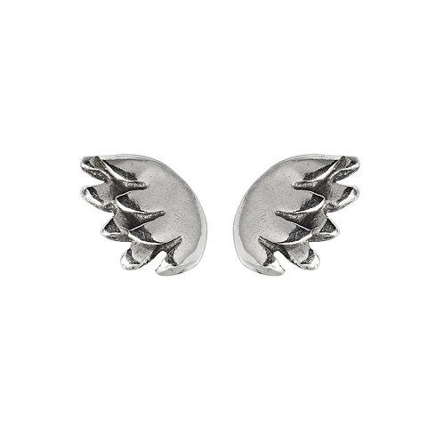 Tiny wing stud earrings