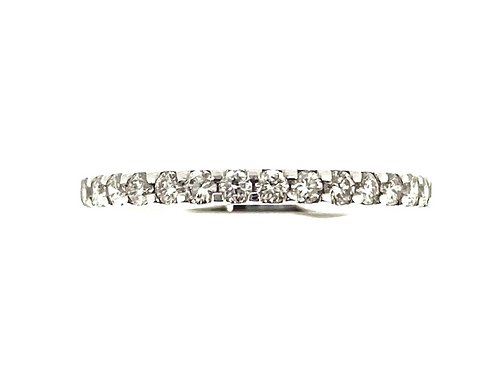 Eternity half set Diamond and Platinum ring