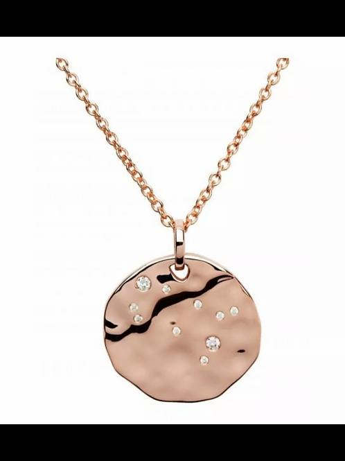 Gemini Constellation Rose gold plated silver pendant