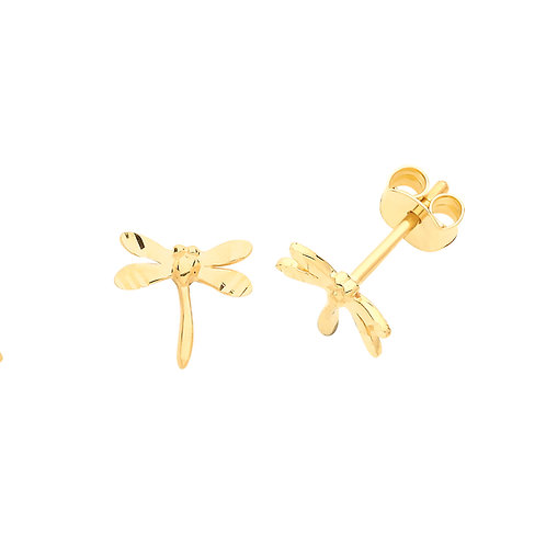 Dragonfly Gold stud earrings