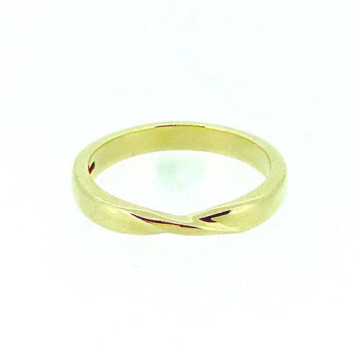 Ribbon Twist 18ct gold wedding band