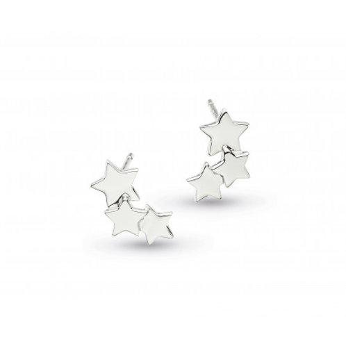 Stargazer Galaxy silver stud earrings