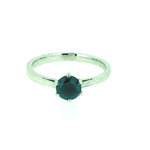 Black Diamond Six Claw Platinum ring