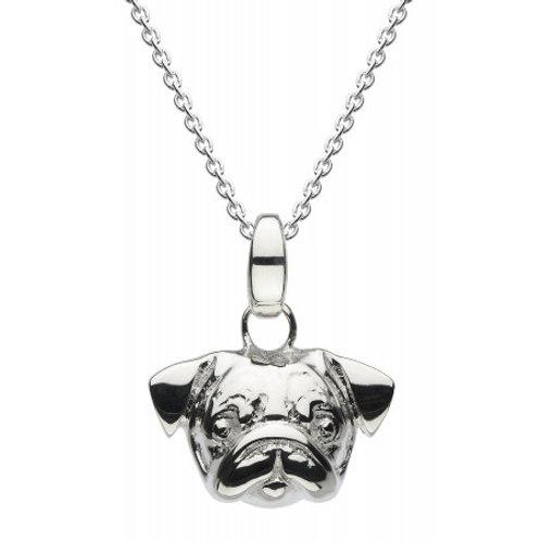 Pug 3D silver pendant