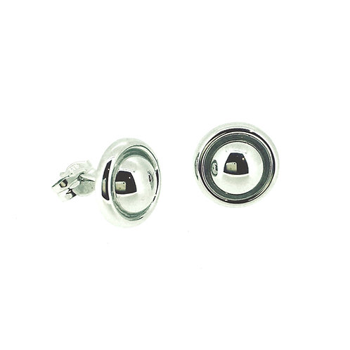 Dome White Gold stud earrings