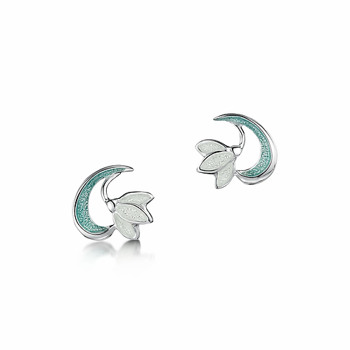 Snowdrop small stud earrings