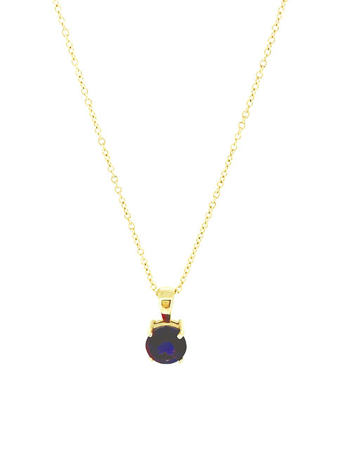 Amethyst claw set gold pendant
