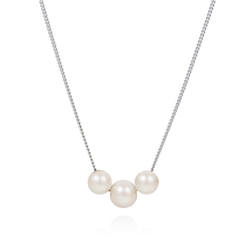 Abacus white pearl necklace