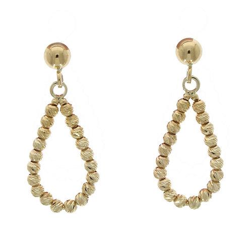 Pear shaped cut drop earrings