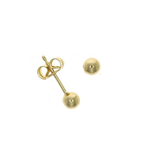 Yellow gold 4mm ball stud earrings