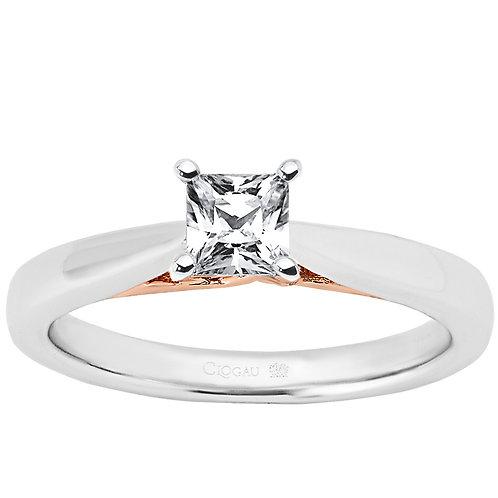 New Beginning Clogau ring 50 point Princess cut Diamond