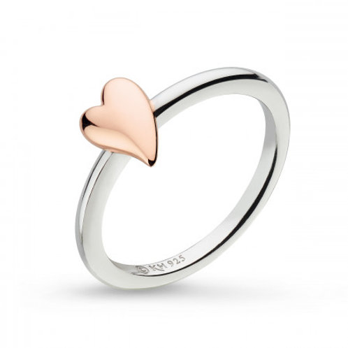 Desire Kiss Blush Heart ring