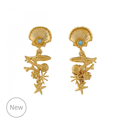 Coral Reef Drop Earrings