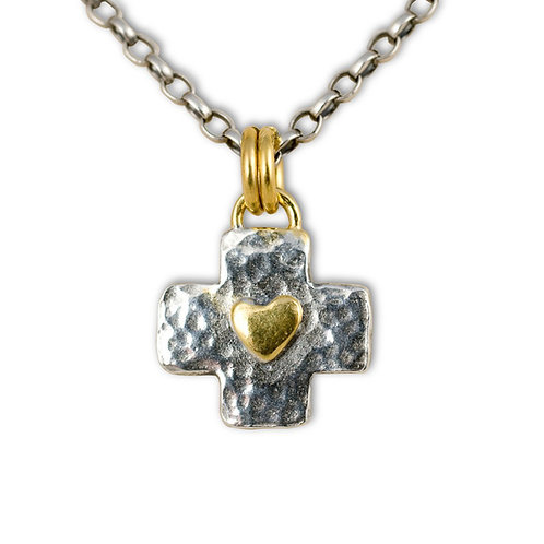 Byzantine cross necklace