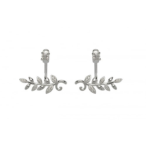 Silver and Cubic Zirconia Jacket Earrings