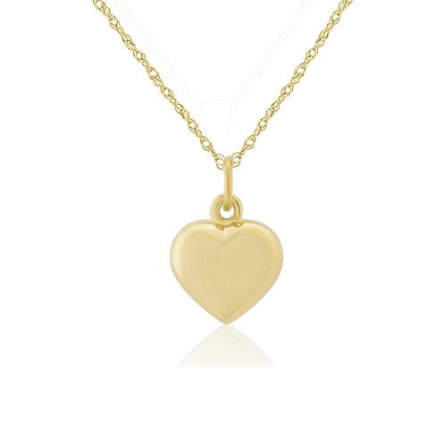 Yellow Gold Puffed Heart pendant