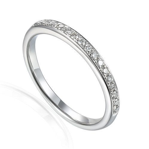Platinum claw set Diamond Eternity ring
