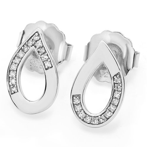 Melting Diamond stud earrings