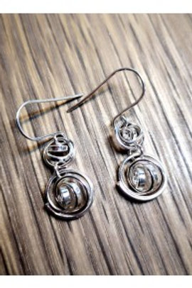 Q double drop earrings