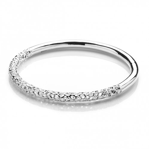 Half polished Allegro bangle
