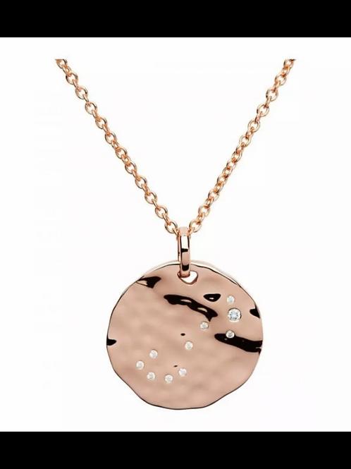 Scorpio Constellation Rose gold plated silver pendant