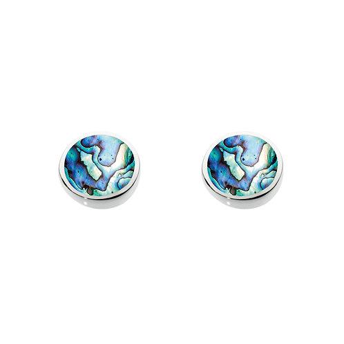 Paua Shell silver stud earrings