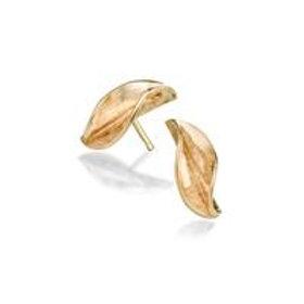 Mavilo small leaf stud earrings
