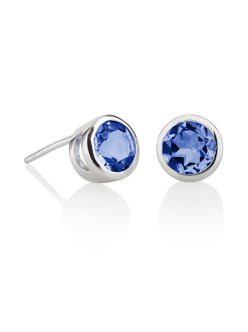 Juliet iolite and silver stud earrings