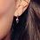 Thumbnail: Desire Kiss mini Heart hoop earrings