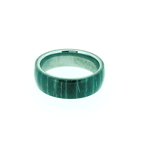 Tungsten carbide with black Sandal wood ring