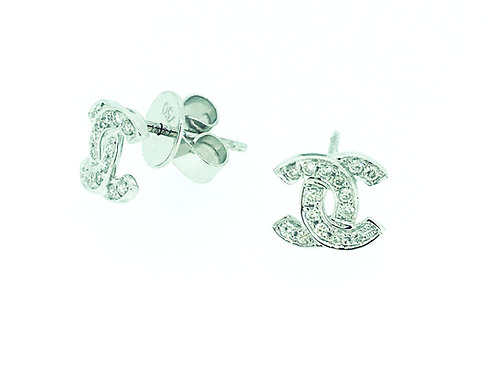 Diamond 18ct White Gold stud earrings
