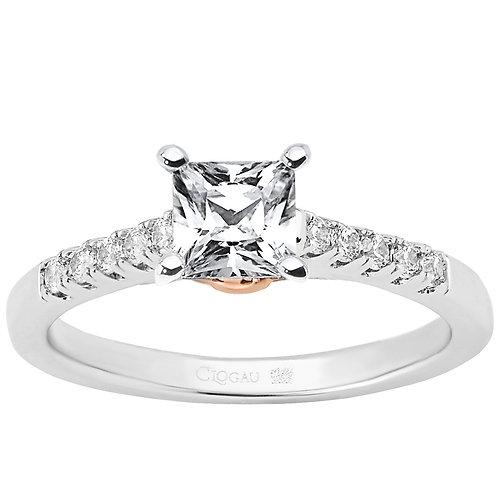 Timeless Love Clogau ring 50 point Princess cut Diamond