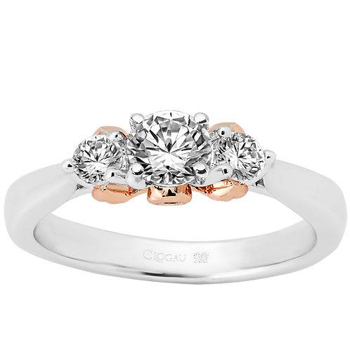 Past, Present & Future Clogau ring 30 point centre Diamond