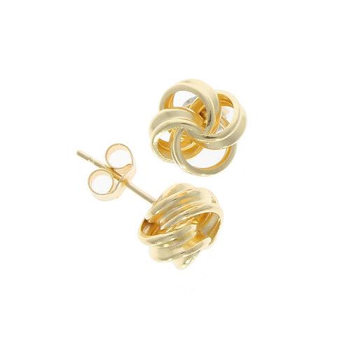 Ribbon Loop knot stud earrings