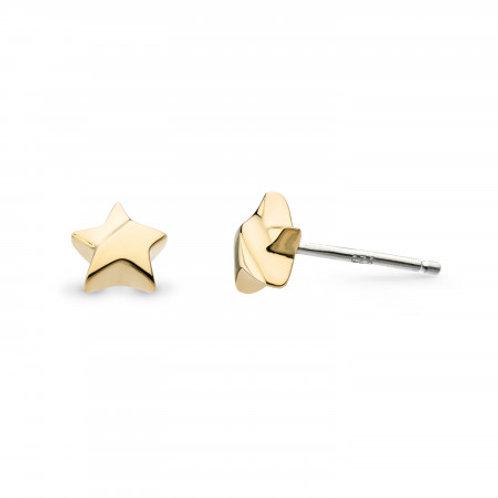 Miniature Shining Star gold plated stud earrings