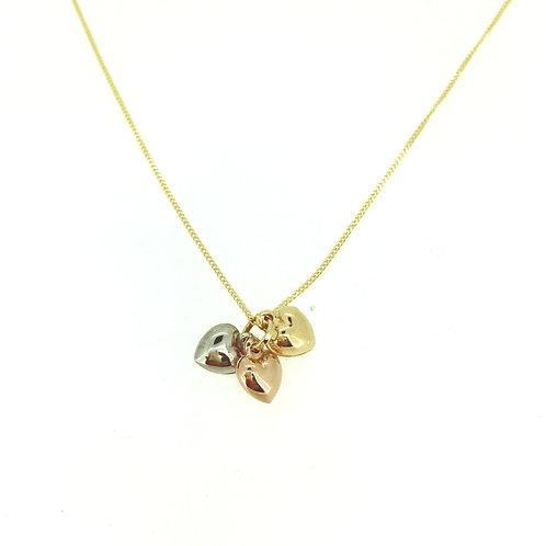 Three Hearts Gold pendant