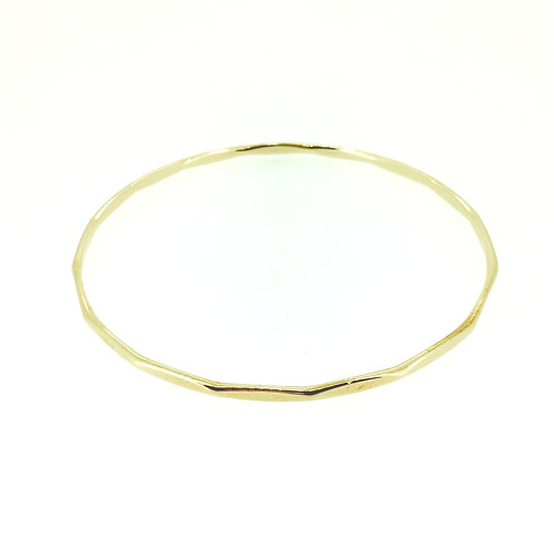 Textured gold bangle