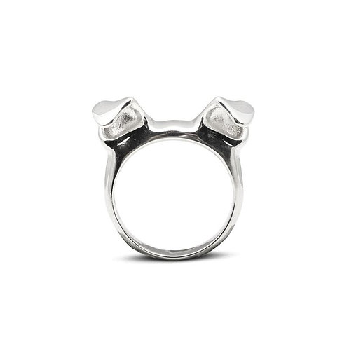 Silver Dog Ear ring